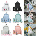 3pcs/Set Backpack Women Canvas Travel Bookbags School Bags for Teenage Girls Hot image