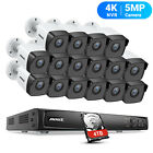ANNKE 16CH 4K 8MP NVR POE Security Camera System HD 5MP Video Outdoor IP Network
