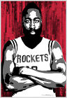 Houston Rockets James Harden - Cool Basketball Hoops 13x19 Sports Art Poster ASU on eBay