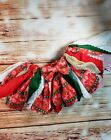 Red Ugly  Christmas Sweater Fabric Scrap Skirt Tutu By SweetLooks Collection