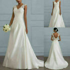 Kyпить Women Brides Mermaid Wedding Dress V Neck Chapel Lace Backless Gowns Skirts US на еВаy.соm