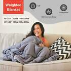 """60X80"""" 48x72'' Weighted Blanket Full Queen Size Reduce Stress 12 15 20 25 lbs image"""