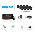Zoohi 1080P Home Outdoor Security Camera System Wired 5inch1 DVR AHD 4CH 1TB HDD