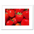 Photo Fruit Strawberry Red Juicy Food Framed Wall Art Print