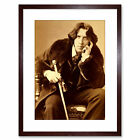 Photo Oscar Wilde Poet Playwright Legend Irish Framed Art Print 9x7 Inch