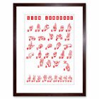 Quote Typograph Sign Language Chart Abc 3 Letter Number Framed Wall Art Print