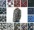 Wrangler Flannel Shirt Men's Plaid Western Long Sleeve Snap 2 Pocket 100% Cotton