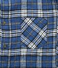 St. Johns Bay Flannel Shirt Men's Plaid Long Sleeve Button Down Top