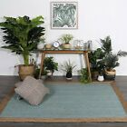 Hand Made Flatwoven Jute Blue Natural Solid Centre Lorien Design Floor area Rugs