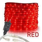 Red LED Rope Lights 10' 25' 50' 100 150ft, Connectable Indoor Outdoor Waterproof