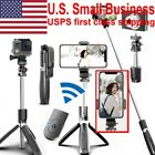 Selfie Stick Stand Tripod Bluetooth Remote 360°Rotation For GoPro iPhone Samsung