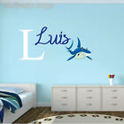 Shark Name & Initial Series Wall Decal Nursery Vinyl Sticker For Home Decor