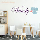 Elephant Name Series Wall Decal Nursery Vinyl Sticker for Home Wall Decor
