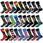 Long Happy Socks Men Funny Art Animal Printed Novelty Casual Crew Business Sox