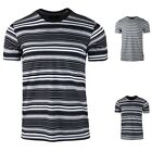 Men's Cotton Stripe Graphic Funny T-shirt Casual Crew Neck Short Sleeve Tee image