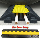 Heavy Duty PVC Rubber Vehicle Cable Wire Floor Ramp Cord Surface Cover Protector