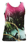 FILTHY DRIPPED AS0214-TNK-01 MULTI COLOR SUNSET GOLD TANK size S