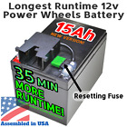 Extended Runtime Battery for Power Wheels 12 Volt 12v Gray Battery Dune Racer