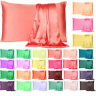 Silky Pure Satin Pillowcase for Hair Pillowcases Housewife Queen Standard 1 Pc image