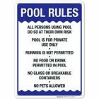 Pool Rules Sign Pool Sign, $17.99 USD on eBay