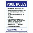 Pool Rules Sign Pool Sign. $10.99 USD on eBay