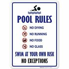 Pool Sign - Swimming Pool Rule Sign $10.99 USD on eBay