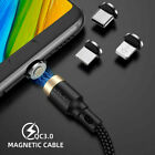 USLION 3A Magnetic Cable Fast Charging For iPhone Xs Max XR 8 7 6 6S Plus Micro