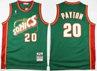 NWT Gary Payton #20 Seattle Super Sonics HWC Classic Stitched Basketball Jersey on eBay