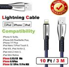 For iPhone 6 7 8 iPhone XS XR Lightning Charger Cable 3/6/10FT USB Charging Cord