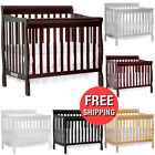 4-in-1 Baby Mini Crib Toddler Playard Sleeping Bed Convertible Nursery Furniture