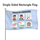 Corona Prevention (COVID) Awareness Outdoor Rectangle Flag - NO HARDWARE