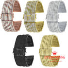 High Quality Micro Pave Simulated Diamond 14K Gold Finish Watch Band Bracelet image
