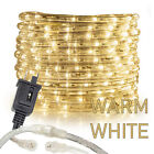 "Assorted Size 3/8""Warm White LED Rope Lighting Flexible Indoor Outdoor Christmas"