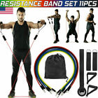 US Resistance Bands Workout Exercise Yoga Crossfit Fitness Tubes 11 Pieces Set