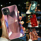 iPhone 11 XR Case Shockproof Silicone Diamond Mirror 3D BLING Protective Cover