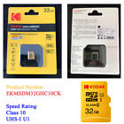 Kodak Micro SD Card 16gb 32gb 64gb Class10 UHS-I U3 Brand New TF Memory Card