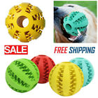 Pet Dog Puppy Teething Dental Health Treat Clean Toy Durable Rubber Ball Chew