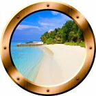 VWAQ Beach Porthole 3D Ocean View Wall Decal Peel And Stick Decor