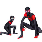 US Spider-Man Miles Morales Costume Cosplay Jumpsuit Outfit Fancy Spiderman Suit