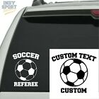 Soccer Ball Silhouette with Soccer Referee Text - Vinyl Sports Car Decal Sticker