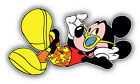 Mickey Mouse Cartoon Relax Sticker Bumper Decal - ''sizes''