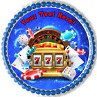 Casino Gambling Roulette Big Lucky Slot Machine - Edible Cake Topper