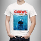 Camiseta Barrio Sésamo Cookie Monster T-Shirt - Sesame Street - Jaws - Tiburon