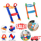 Child Toilet Potty Seat Chair Kids Toddler With Ladder Step Up Training Stool image