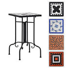 Garden Mosaic Side Table Ceramic Bistro Outdoor Side Bar Table Patio Display New