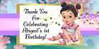 MULAN BABY SHOWER or BIRTHDAY PERSONALIZED PARTY STICKERS Labels FAVORS SUPPLIES