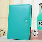 """For AT&T ZTE Trek 2 8"""" HD K88 Tablet Keyboard Folio PU Leather Stand Case Cover"""