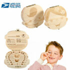 Kyпить Kids Boy&Girl Tooth Box Wood Storage Organizer Baby Save Milk Teeth Collection на еВаy.соm