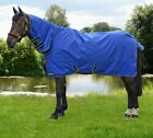 "Hy StormX Original 100 100g  Combi Combo Light Turnout Rug 600D Blue 4'6""-7'0"""