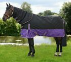 "Hy StormX Original 200g Mediumweight Turnout Rug Detachable Neck Black 4'6""-7'0"""